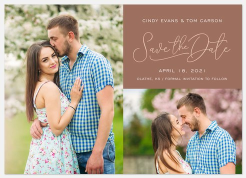 Sienna Duo Save the Date Photo Cards