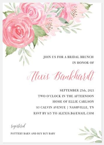 Floral Blush Bridal Shower Invitations