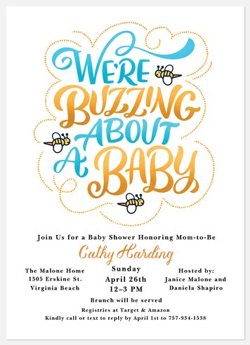 Baby Buzz Baby Shower Invitations