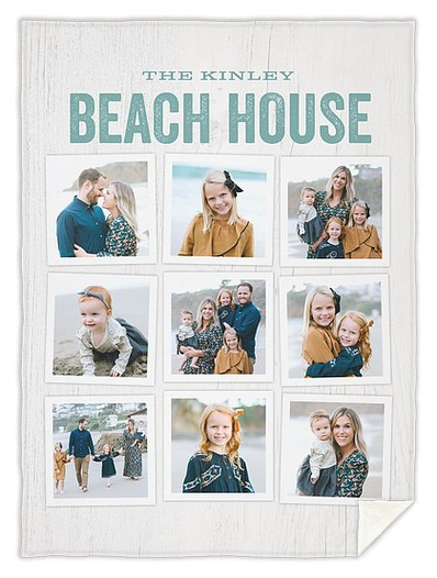 Beach House Custom Blankets