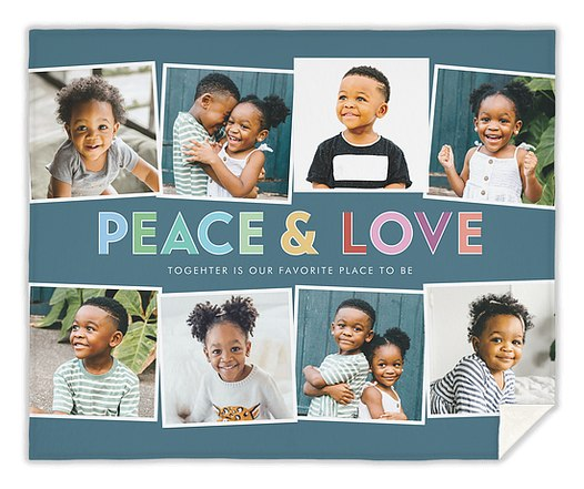 Peace and Love Custom Blankets