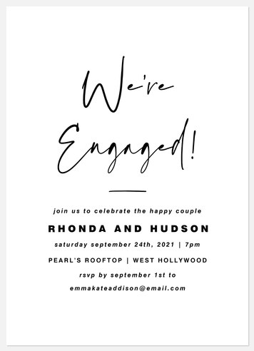 Modern Engagement Engagement Party Invitations