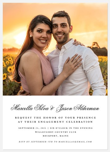 Classical Engagement Party Invitations