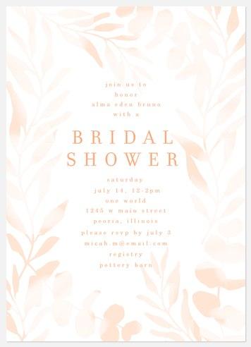 Sweet Foliage Bridal Shower Invitations