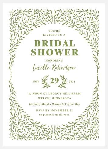 Garden Hedge Bridal Shower Invitations