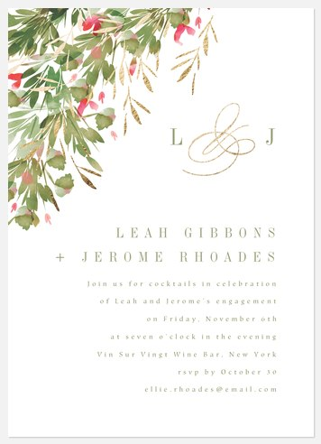 Floral Mix Engagement Party Invitations