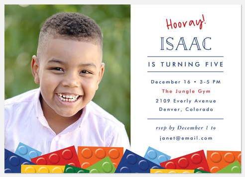 Brick Party Kids' Birthday Invitations