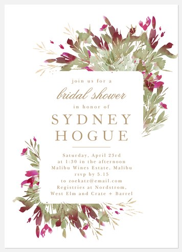 Desert Bloom Bridal Shower Invitations
