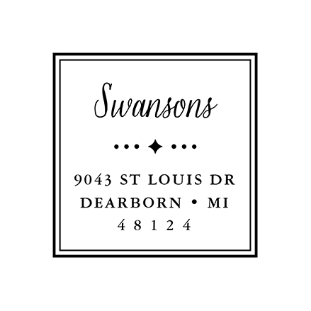 Simple Square | Custom Rubber Stamps