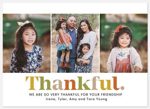 Thankful Trio Thanksgiving Cards