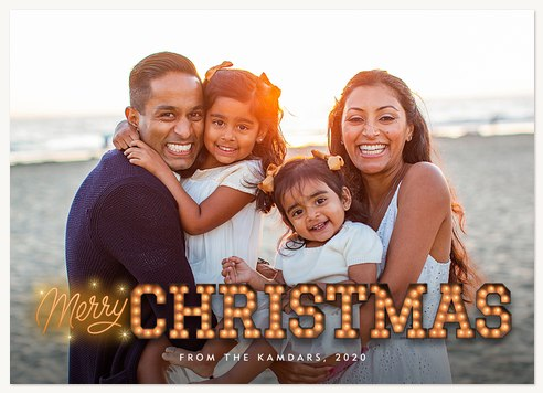 Marquee Lights Photo Holiday Cards