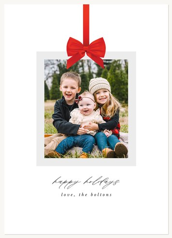 With a Bow Photo Holiday Cards