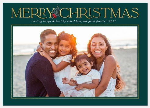 Simple Elegance Holiday Photo Cards