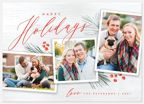 Winter Berries Holiday Photo Cards