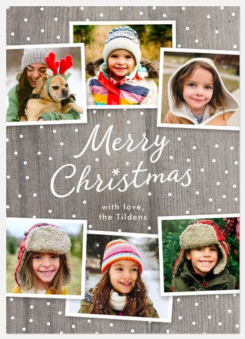 Woodland Flurry Holiday Photo Cards