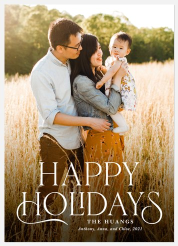 Classic Storybook Holiday Photo Cards