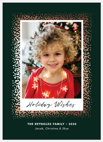 Shimmering Stardust Holiday Photo Cards