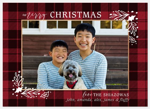 Tartan Tidings Holiday Photo Cards