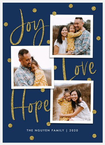 Glittering Hope Holiday Photo Cards
