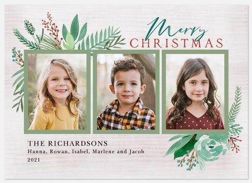 Woodland Trio Holiday Photo Cards