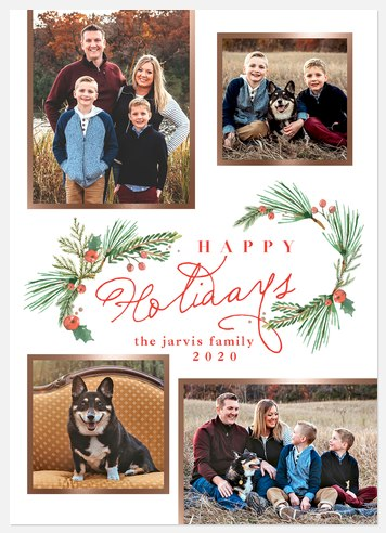 Evergreen Bouquet Holiday Photo Cards