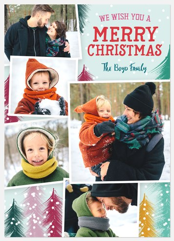 Forest Whimsy Holiday Photo Cards