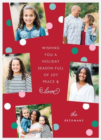 Holi-dots Holiday Photo Cards