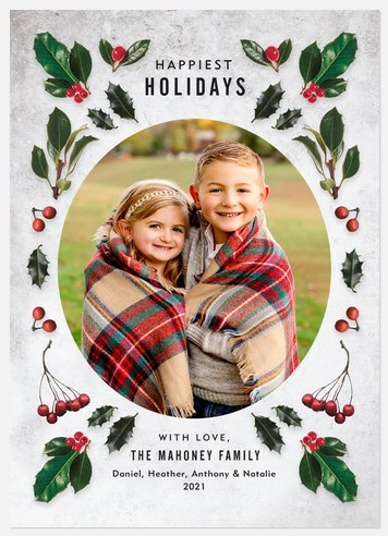 Winter Elements Holiday Photo Cards