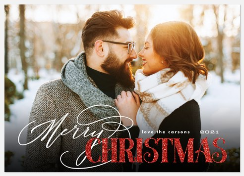 Lettering Mix Holiday Photo Cards