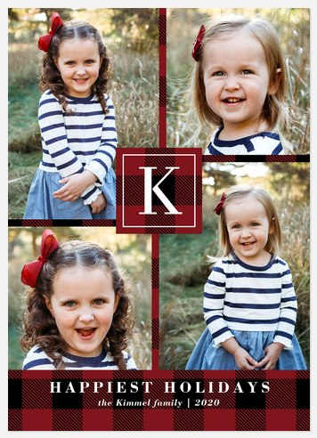 Buffalo Monogram Holiday Photo Cards