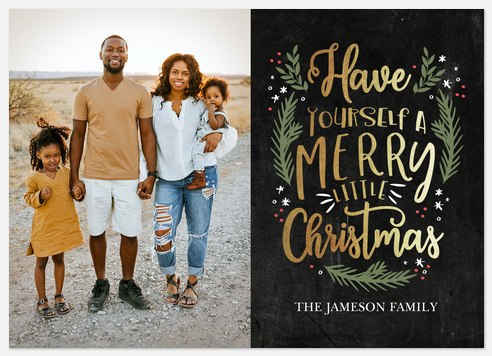 Chalkboard Art Holiday Photo Cards