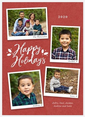 Family Snaps Holiday Photo Cards