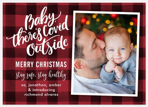 Covid Outside Holiday Photo Cards