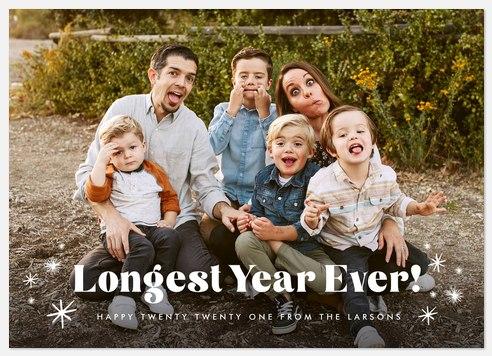 Longest Year Holiday Photo Cards