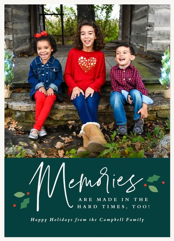 Sweet Memories Personalized Holiday Cards