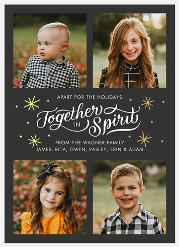 Together in Spirit Holiday Photo Cards