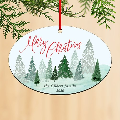 Forest View Personalized Ornaments