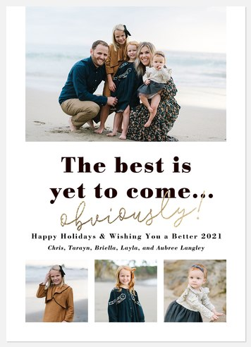 Better Days Holiday Photo Cards