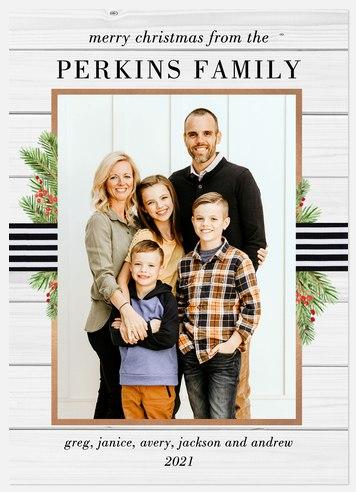 Farmhouse Ribbon Holiday Photo Cards