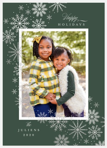 Flurry Frame Holiday Photo Cards