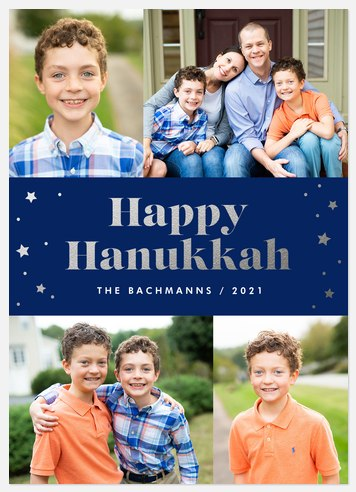 Shining Stars Hanukkah Photo Cards