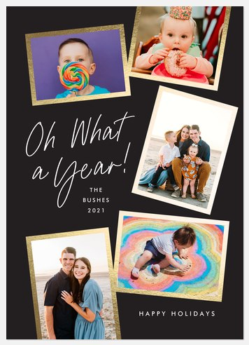Oh What a Year Holiday Photo Cards