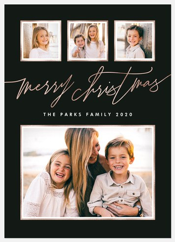 Stylish Slate Holiday Photo Cards