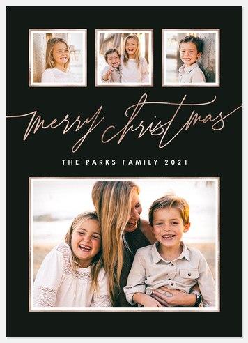Stylish Slate Holiday Photo Cards