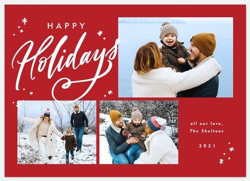 Holiday Wisps Holiday Photo Cards