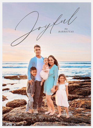 Joyful Script Holiday Photo Cards