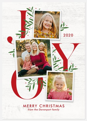So Much Joy Holiday Photo Cards