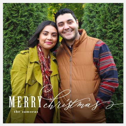 Type Duo Holiday Photo Cards