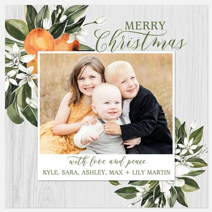 Southern Citrus Holiday Photo Cards
