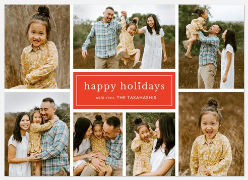 Classic Middle Holiday Photo Cards